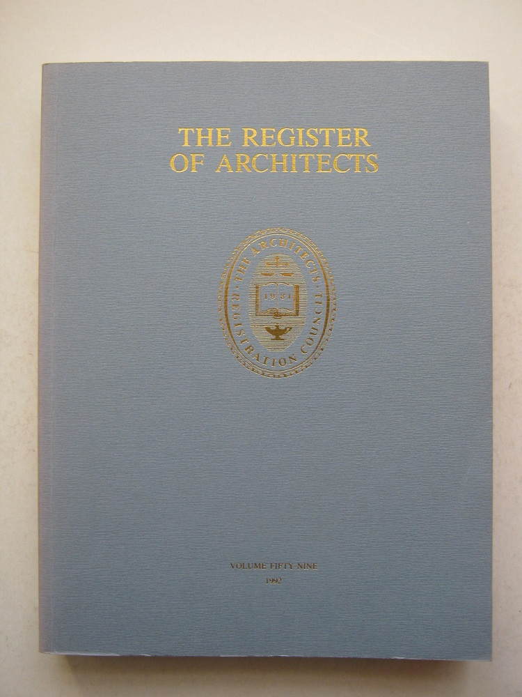 The Register of Architects, Volume 59, Anonymous