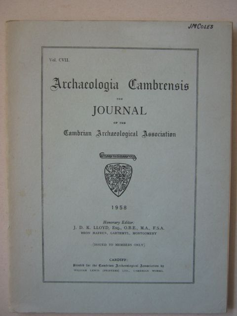 Archaeologia Cambrensis, Vol CVII :The Journal of the Cambrian Archaeological Association, Various ;