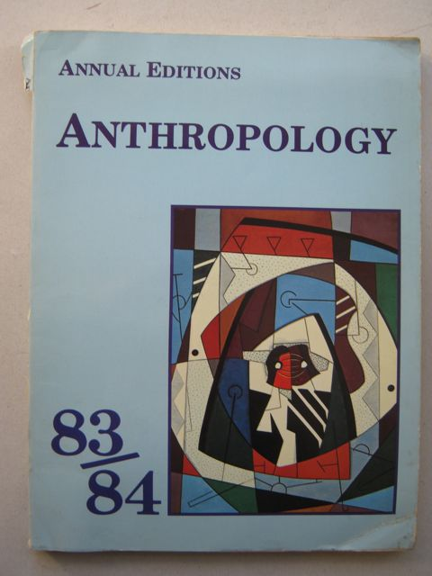 Anthropology 83/84 :, Angeloni E (ed)