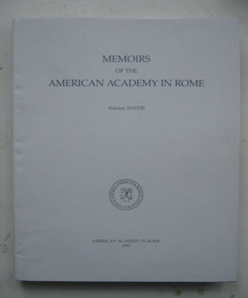Cosa IV :The Houses (Memoirs of the American Academy in Rome Volume XXXVIII), Bruno, Vincent J. ;Scott, Russell T.