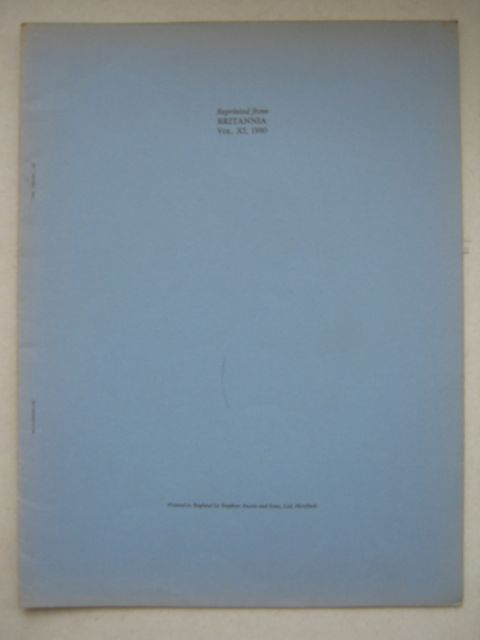 Excavations at Wanborough, Wiltshire :an interim report (reprinted from Britannia Vol XI 1980), Anderson A S & Wacher J S