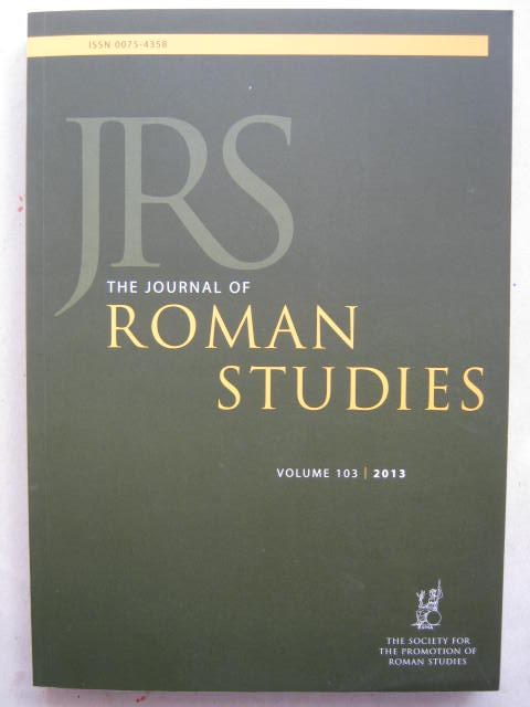 The Journal of Roman Studies, Volume 103 :, Various