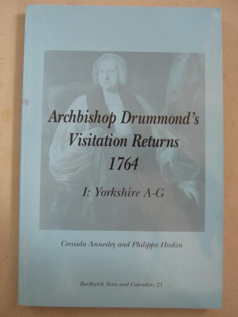 Archbishop Drummond's Visitation Returns 1764 :I: Yorkshire A-G, Annesley, Cressida ;Hoskin, Philippa