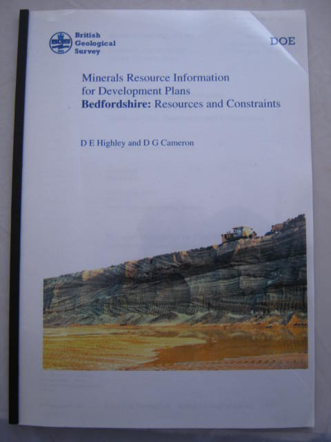 Mineral Resource Information for Development Plans :Bedfordshire: Resource and Contraints, Highley, D. E. ;Cameron, D. G.