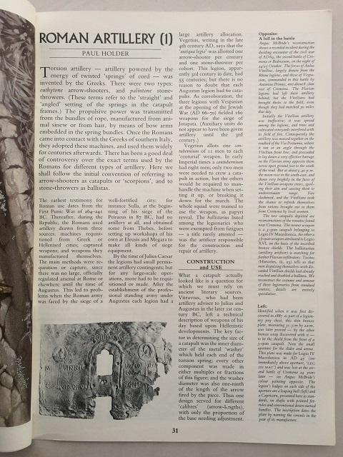 Roman Artillery (1) :, Holder, Paul ;