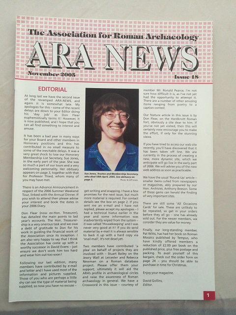 ARA News :Issue 18, The Associations for Roman Archaeology ;