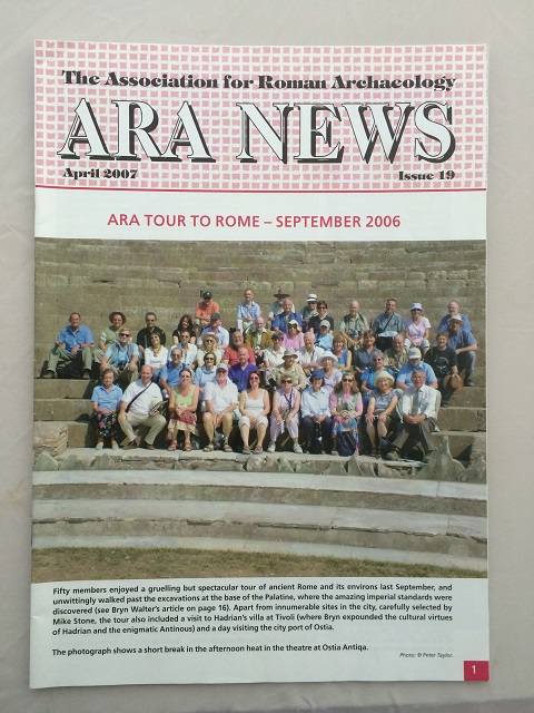 ARA News :Issue 19, The Associations for Roman Archaeology ;