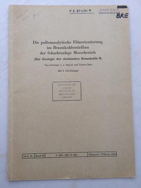 Die pollenanalytische Flozorientierung im Braunkohlentiefbau der Schachtanlage Morschenich :, Brelie, Gunther V. D. ;Rein, Ulrich