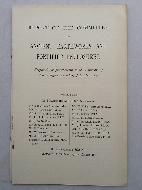 Report of the Committee on Ancient Earthworks and Fortified Enclosures :, Congress of Archaeological Societies ;