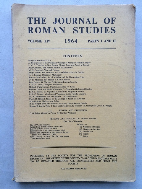 The Journal of Roman Studies, Volume LIV. 1964, Part 1 & 2. :, The Society for the Promotion of Roman Studies ;