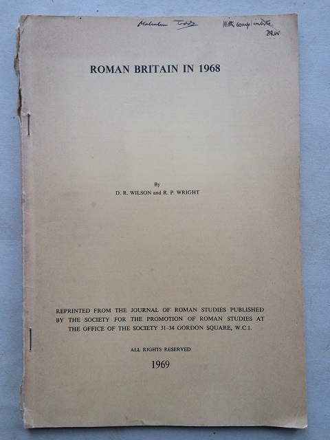 Roman Britain in 1968 :, Wilson, D. R. ;Wright, R. P.