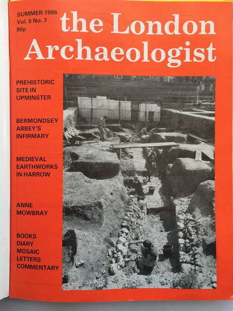 The London Archaeologist, Summer 1986, Vol. V, No. 7 :