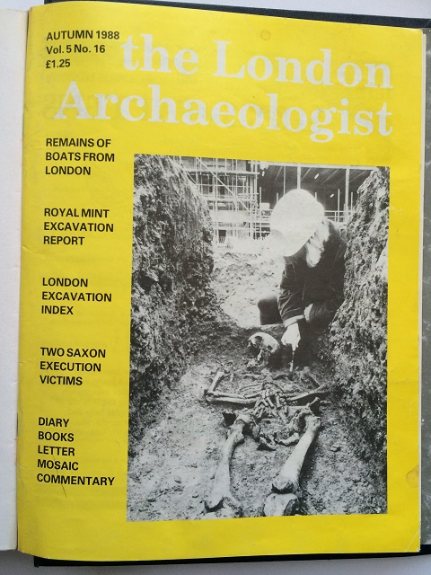 The London Archaeologist, Autumn 1988, Vol. V, No. 16 :