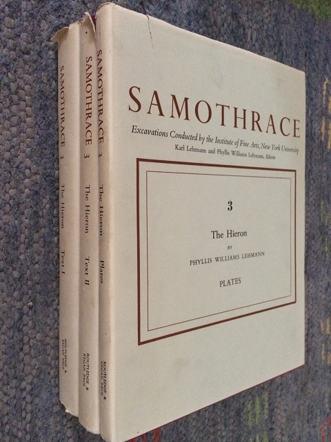 Samothrace :The Hieron - Vols I, II & Plates, Excavations Conducted by the Institute of Fine Arts, New York University, Lehmann, Phyllis Williams ;