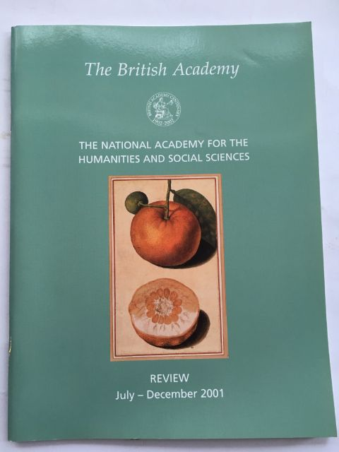 The National Academy for the Humanities and Social Sciences, Review July-December 2001 :, The British Academy ;