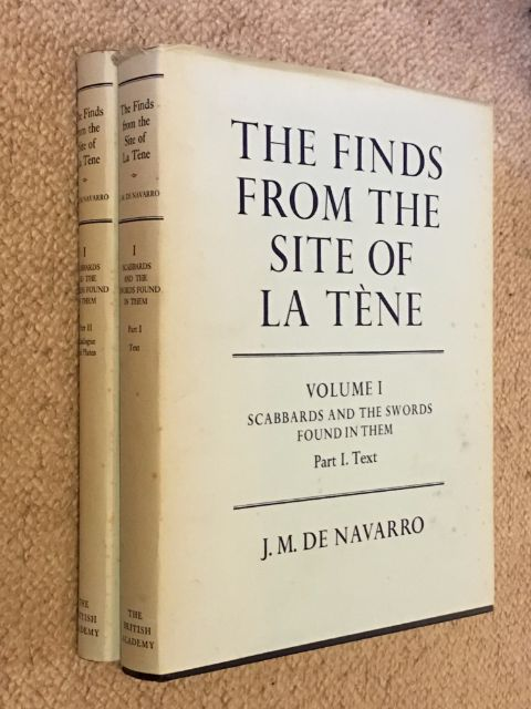 The Finds from the Site of La Tene :Volume I: Scabbards and the Swords Found in Them, Part I: Text, Part II. Catalogue and Plates