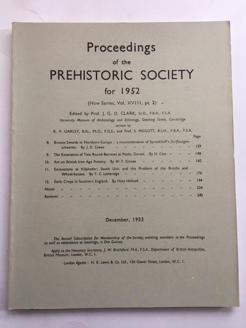 Proceedings of the Prehistoric Society for 1952 (New Series Vol. XVIII, pt. 2) :, Clark, J. G. D. ;(ed)