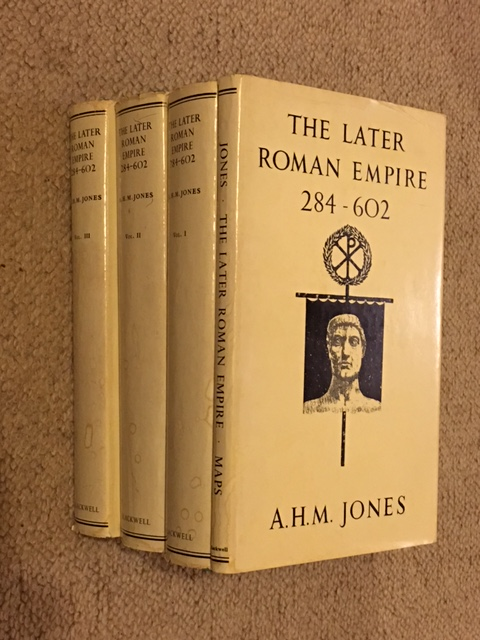 The Later Roman Empire 284-602 :A Social Economic and Administrative Survey, Vol. I, II, III & Maps, Jones, A. H. M. ;