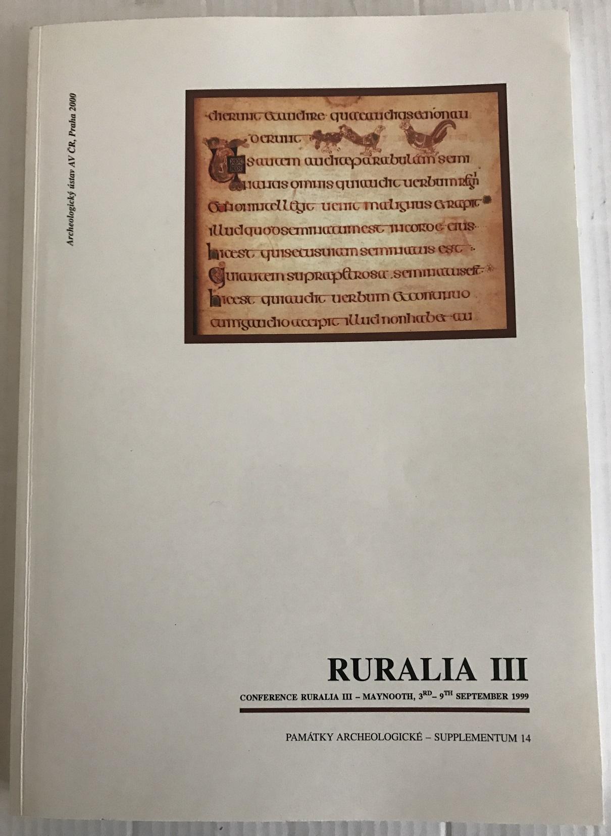 Ruralia III :, Klapste Jan ;et al (eds)