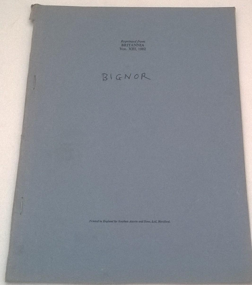 The Bignor Villa :Britannia Vol XIII 1982, Frere, Sheppard ;