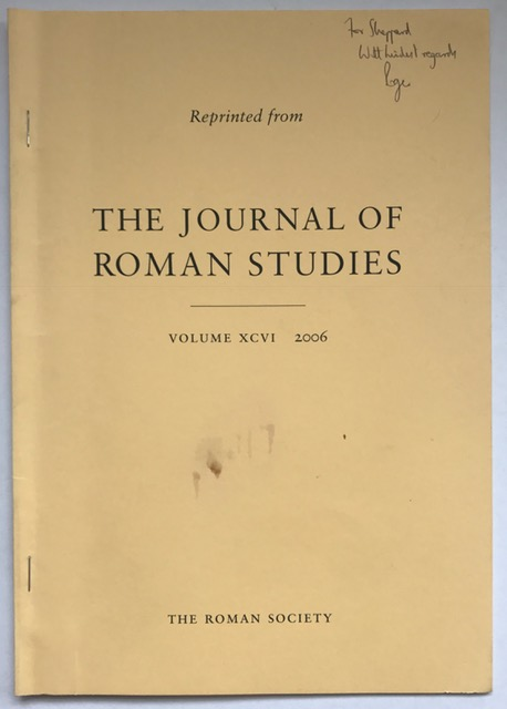 Reprinted from: The Journal of Roman Studies: What's New in Roman Baden-Wurttemberg? :Volume XCVI 2006, Wilson, R. J. A. ;
