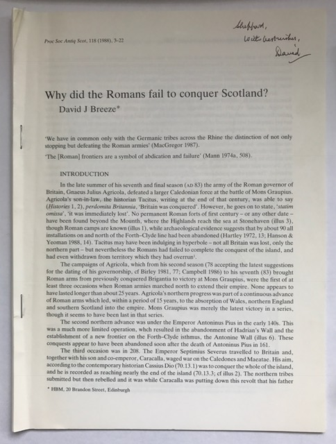 Why did the Romans fail to conquer Scotland? :, Breeze, David J. ;