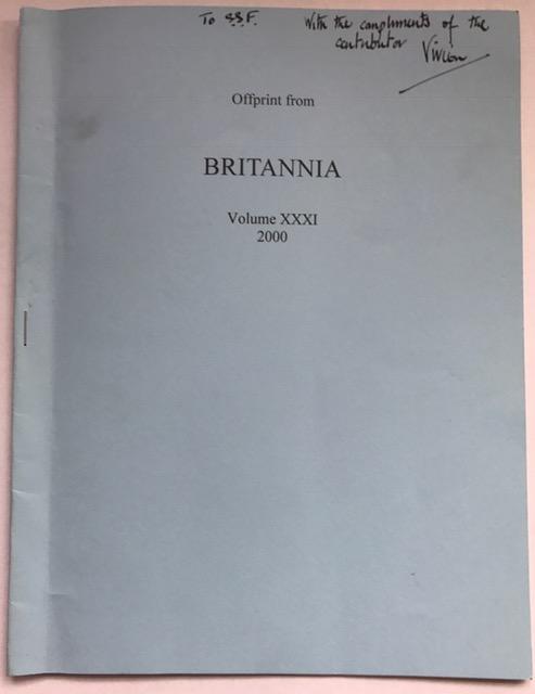 Legio XX VV and the Tile Production at Tarbock, Merseyside :Offprint from Britannia Vol. XXXI 2000, Swan, Vivien G. ;